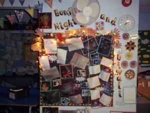 Our bonfire night and Diwali displays